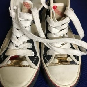 Burberry Girls High Top Sneakers Size 31